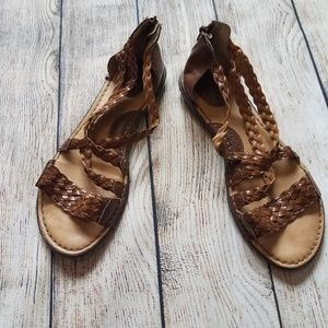 Born BOC Brown Leather Gladiator Sandal 10 K